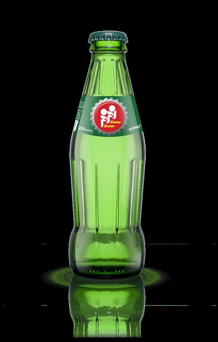 نوشابه بطری شیشه ای طعم لمون