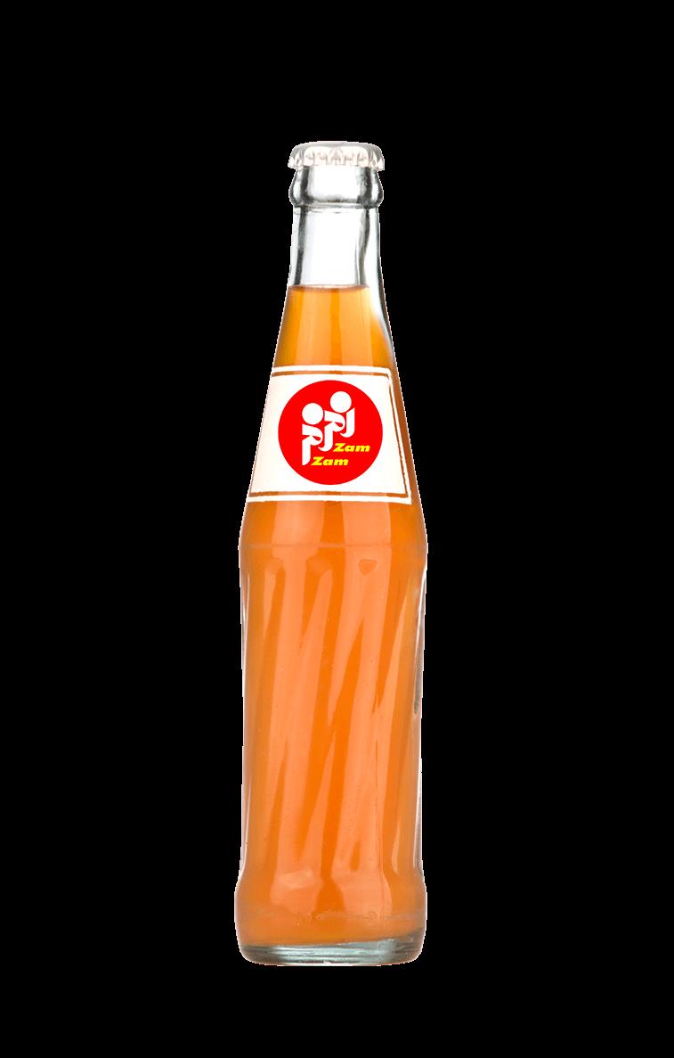 نوشابه بطری شیشه در گردش طعم پرتقالی